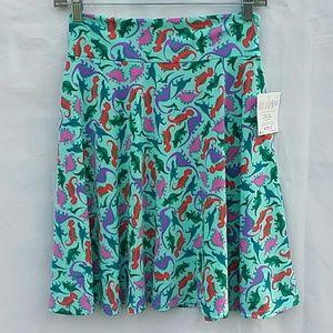 LuLaRoe Girls Dinosaur Skirt Size 12